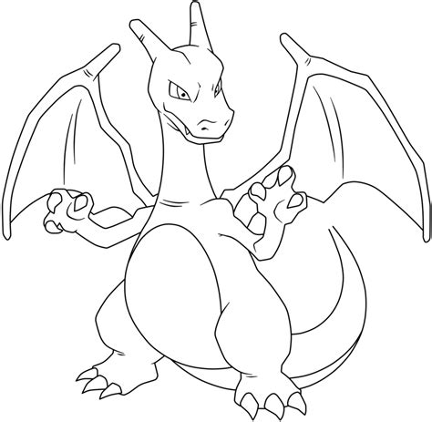 charizard coloring pages charizard lineart by maffo1989 on deviantart