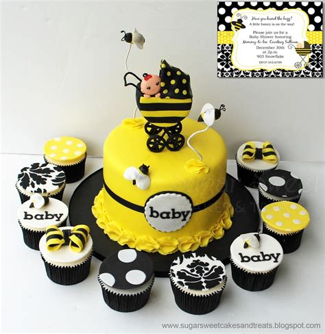 bumble bee baby shower cake cakecentral