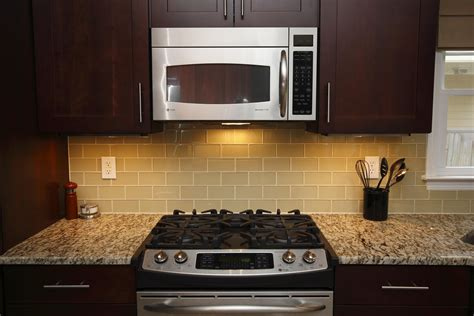 Kitchen With Glass Tile Backsplash light beige glass subway tile in almond modwalls lush