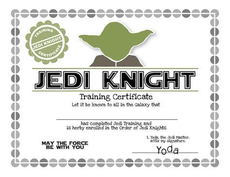 wars jedi certificate template free wars certificate printable search results