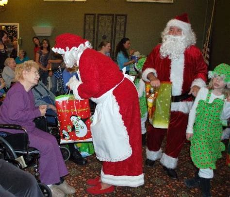 christmas party brightens day at nursing home fort