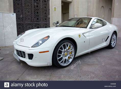 fiorano sports cars brilliant white 599 gtb fiorano sports car stock