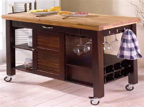 rolling butcher block table kitchen rolling kitchen island table carts stainless
