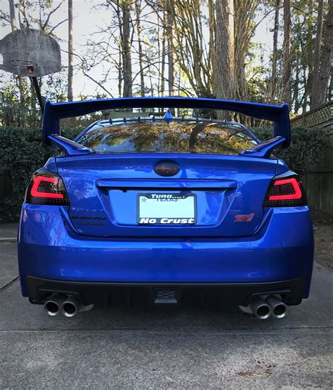 subispeed tr tail lights installed the subispeed smoked tr style tail lights this