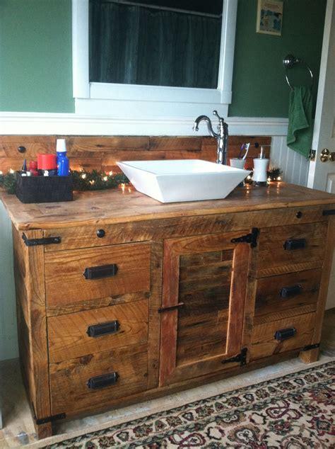 rustic bathroom sink cabinets barnwood vanity with vessel sink rustic vanities