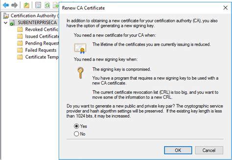 Certificate Template Renewal Period