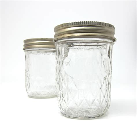 Quilted Jar by Vintage Jars 7 Oz Quilted 1970s Canning Jars