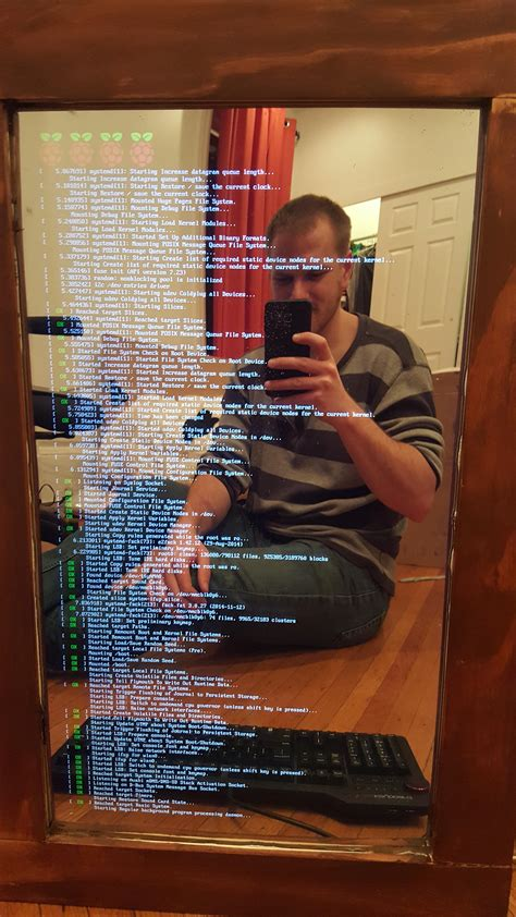 Magic Display Mirror Switches Between You And Would You by A Web Designer Built A Magic Mirror That Displays Weather