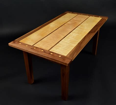 custom made coffee tables buy a custom curly maple and black walnut coffee table