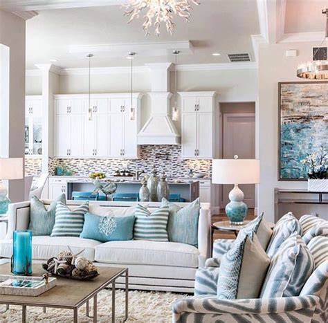 Turquoise Living Room Decor by Wonderful Turquoise Coastal Living Room Design Ideas 2048