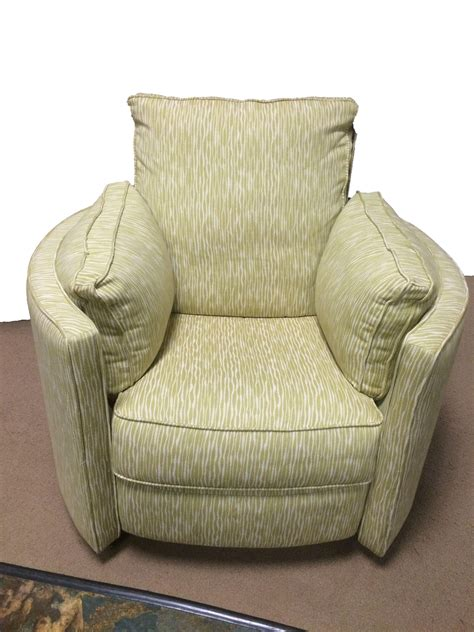 Klaussner Ryder Transitional Reclining Swivel Chair Reclining Swivel Chairs