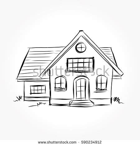 sketch a house house sketch stock images royalty free images vectors