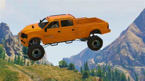 funny monster truck flying monster truck race gta 5 funny moments doovi