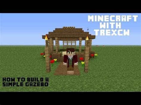how to build a simple gazebo in minecraft