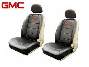 Seat Covers For Trucks Gmc Gmc Elite Seat Covers Black Synthetic Leather Side Air Bag
