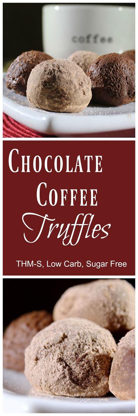 Chocolate Free Sugar Low 800gr chocolate coffee truffles thm s low carb sugar free recipe low carb truffles and coffee