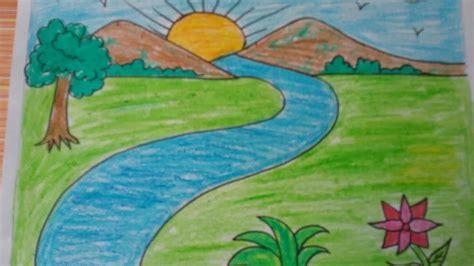 draw  landscape kids drawingmountainsdrawing