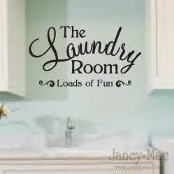 Laundry Wall Stickers Laundry Room Wall Decal Quote Loads Of Fun Sticker Vinyl