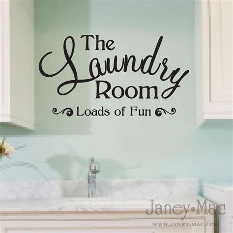 laundry room wall decal quote loads of sticker vinyl