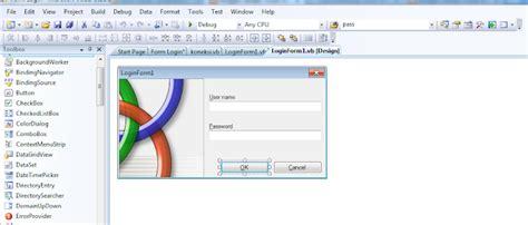 membuat form login visual studio membuat form login visual studio net konsultasi vb net
