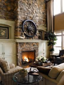 Rustic Fireplace luxury rustic fireplace covered in stones better decorating bible blog
