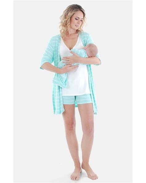 Stripe Belt Set Top Shorts Grey everly grey during after 5 maternity