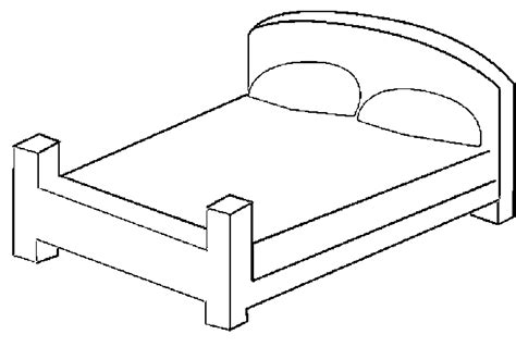 drawing of bed free coloring pages of draw a bed