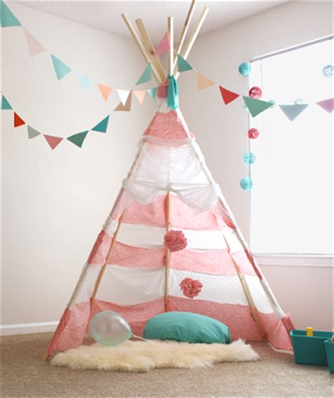 Kids In Mind by Diy No Sew Teepee For Less Than 30 Instructions Inside