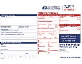 priority mail express hold for label