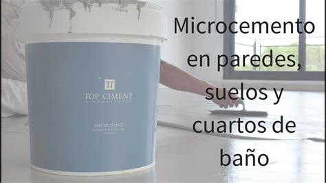 video aplicacion microcemento en paredes suelos  banos youtube
