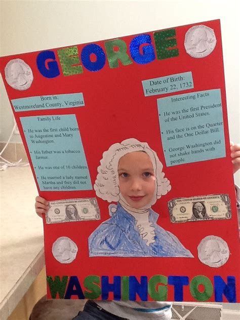 biography poster ideas george washington school poster project famous american