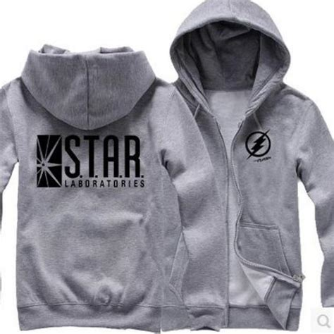 Sweater Hoodie Zipper Flash xxxxl hoodie printed the flash s t a r flash labs fleece hoodie jacket zipper cardigan thick