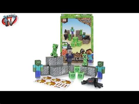 Minecraft Overworld Deluxe Papercraft Pack - minecraft papercraft overworld deluxe set unboxing