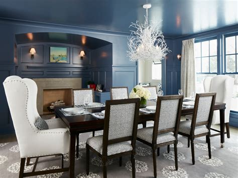 White glass dining room table