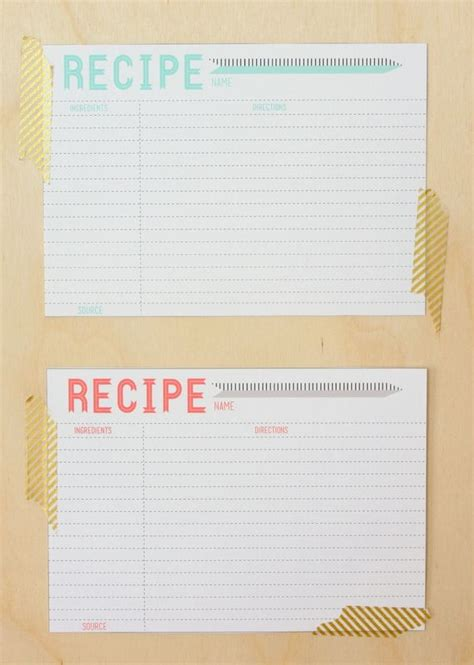 Template For Recipe Card Dividers by Best 25 Printable Recipe Cards Ideas On