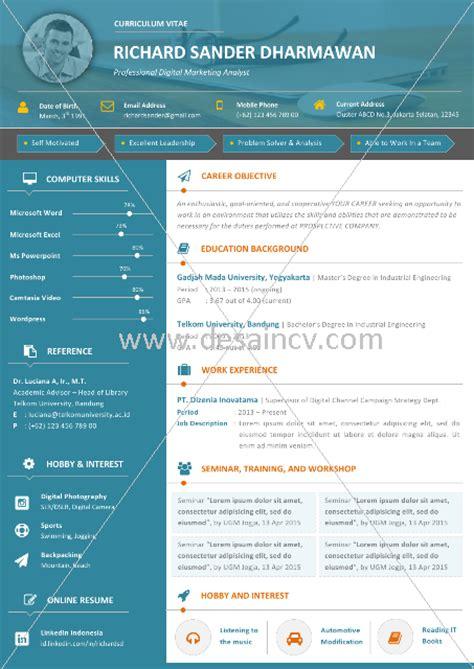 desain cv menarik free download desain cv kreatif contoh cv simpel dan menarik creativa18