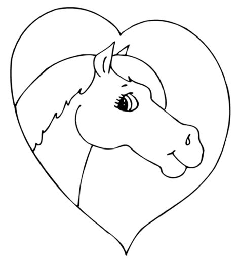 heart coloring pages preschool horse animal coloring pages for preschool animal