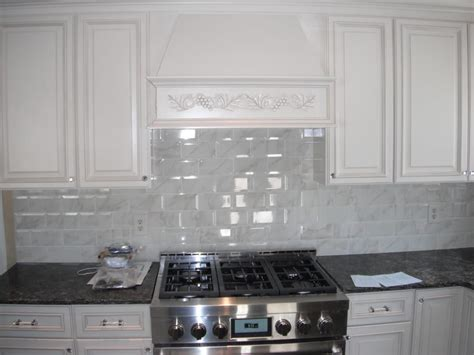 New Jersey Kitchen Cabinets by Wellington Ivory Cabinets Carrara Marble Subway Backsplash Dark Granite Yelp