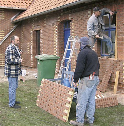 Aussenwand Holz Verkleiden Klinker Klinkerfassade Fassade Mit Klinkersteinen