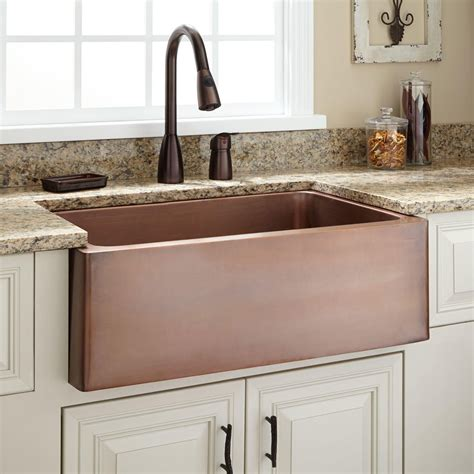 kitchen faucets for farm sinks 30 quot kembla copper farmhouse sink for the farm