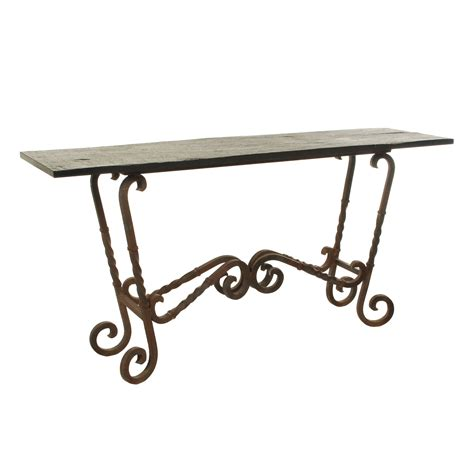 iron sofa table base wrought iron console table base large irons consoles