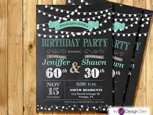 joint birthday invitation string light