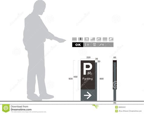 Parking Traffic Sign On White Background Stock Illustration Image 36605341 Sign Design Template