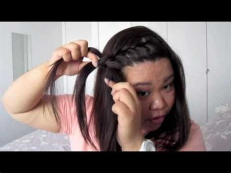 easy front lace braid how to tutorial youtube hair tutorial how to do a front braid youtube