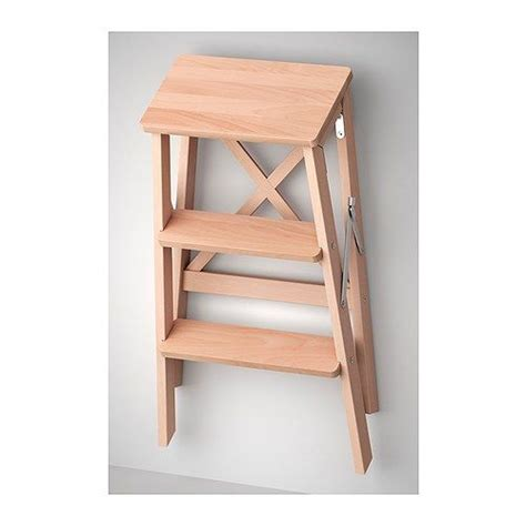 ikea folding step stool bekv 196 m stepladder 3 steps beech