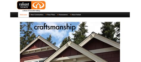 Home Construction Website Design by Construction Web Design For Reliant Homes Website