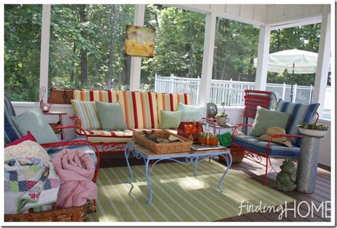 Decorating Ideas Screened Porches 4 Tips For Finding Cushions For Vintage Outdoor Furniture