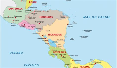 map of central american countries how many countries are in central america worldatlas