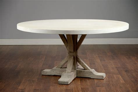 Round 60? Concrete and Elm Dining Table   Mecox Gardens