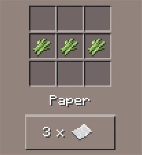 Paper Recipe - paper minecraft pocket edition canteach